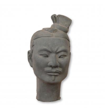 Tête de Guerrier Chinois Xian en terre cuite