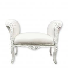 Белый барокко кресло