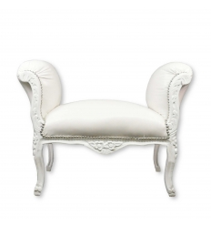 White baroque bench
