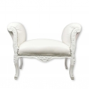Fehér barokk ülés