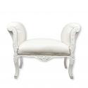 Valkoinen barokki istuin