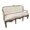Ludvig XV satin grå soffa