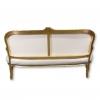 Louis XV gray satin sofa
