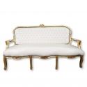 Sofa Louis XV-szary matowy