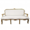 Sofa i Louis XV-grå satin