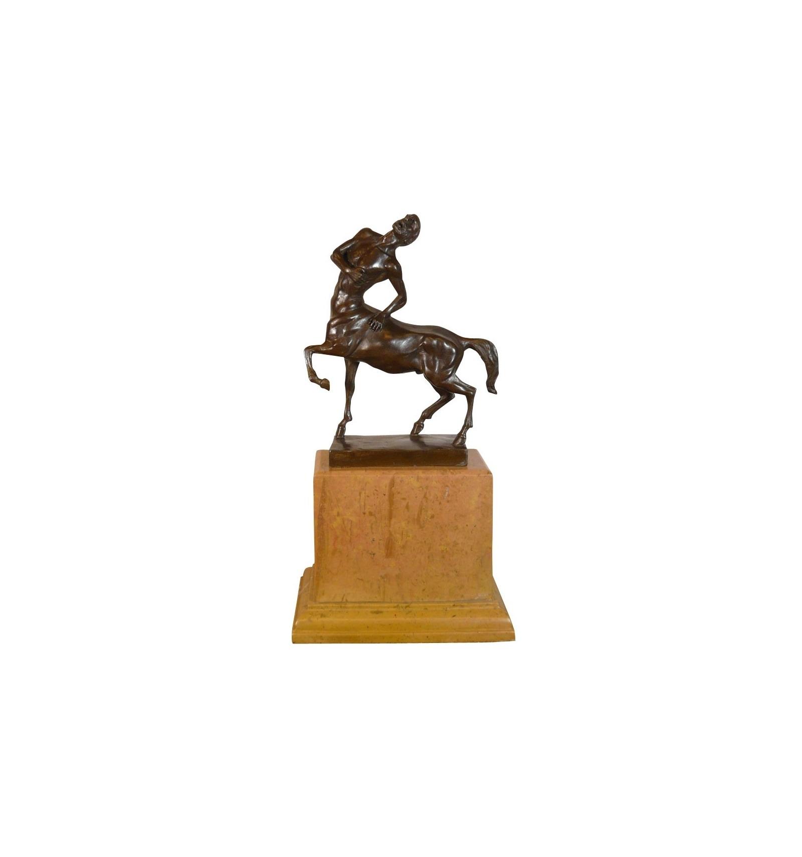 80684442ba Estatua de bronce - El centauro - Escultura griega mitad hombre ...