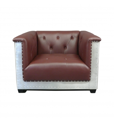 Fauteuil Chesterfield style aviateur