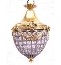 Bronzový lustr a Crystal Ludvíka XVI