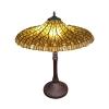lampa tiffany lotus żółta