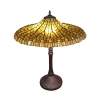 Tiffany Lotus gul lampa