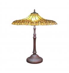 Tiffany tafellamp Lotus geel
