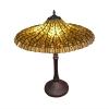 lampa tiffany lotus żółta - lampy stojące witrażowe tiffany