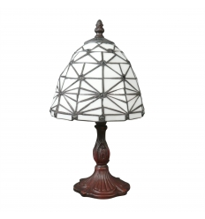 Lampe Tiffany style art déco blanche