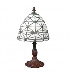 Tiffany bordlampe lampe hvid art deco