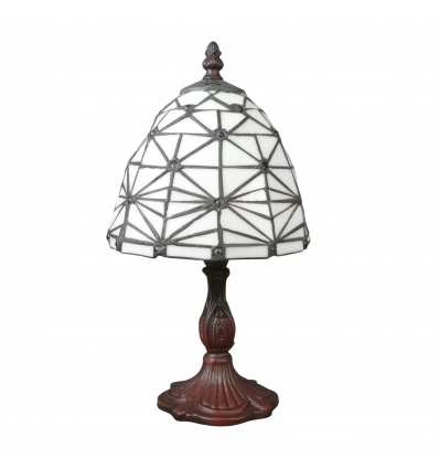 Lámpara Tiffany estilo art deco blanco