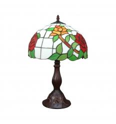 Tiffany-lamppu ruusun kanssa