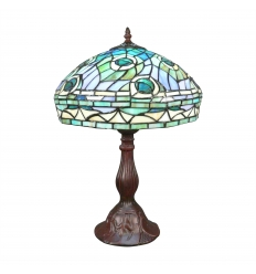 "Tiffany ""Peacock"" Stil Lampe"