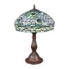 """Tiffany """"Peacock"""" style lamp"""