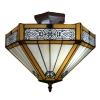 Lámpara de techo Tiffany Alicante - Lamparas tiffany catalogo