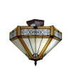 Plafonnier Tiffany Lille - Lampes Tiffany pas chères