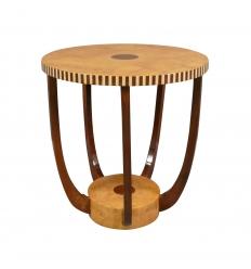 Art Deco okrągły stolik kawowy