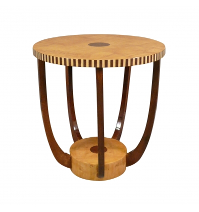 Table basse ronde art déco style 1920