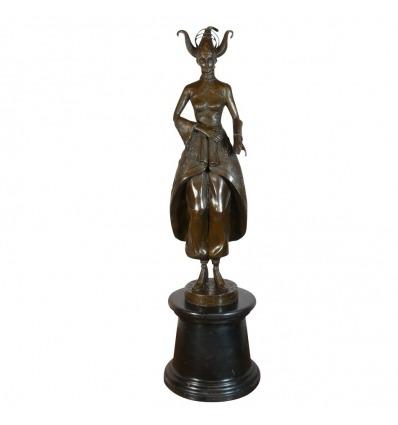 Bailarina - Estatua de bronce - Art deco escultura.