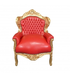 Fauteuil baroque rouge