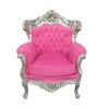 Fauteuil baroque rose style rococo