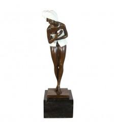 Hedendaagse bronzen sculptuur-vrouw