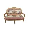 Canapé Louis XVI royal rose pas cher