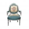 Louis XVI tuoli musta sametti