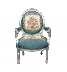 Louis XVI armchair - Royal Blue