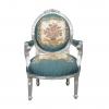 Louis XVI szék fekete bársony