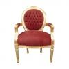 Fauteuil Louis XVI médaillon - Chaise baroque
