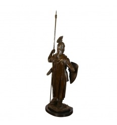 Knight templar - Statue in bronze