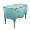 Grande commode baroque bleue vintage