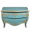 Grande commode baroque bleue style vintage
