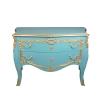 Grande commode baroque bleue rococo
