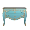 Grande commode baroque bleue