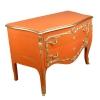 Grande commode baroque orange vintage