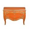 Grande commode baroque orange moderne