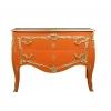 Grande commode baroque orange