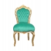 Chaise baroque en velours vert