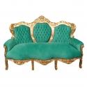 Canapé baroque en velours vert