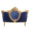Canapé baroque royal en velours bleu