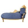 chaise longue baroque en velours