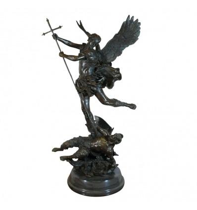 Bronze St Michel Terrassant le dragon
