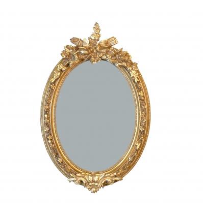 Petit miroir baroque ovale 97 cm