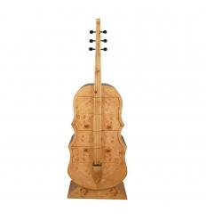 Commode art déco en forme de guitare en loupe d'orme